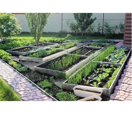 Грядка оцинкованная «Урожайная» (7,9 х 1 метр)