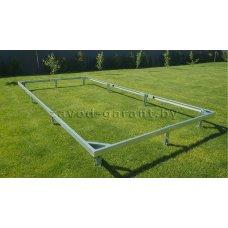 Металлический фундамент для теплицы 3х12 метров