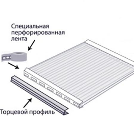 Торцевой поликарбонатный профиль UP (4 мм)
