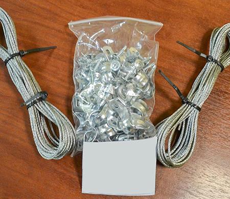 Набор для подвязки растений для теплицы 6 м (шаг дуги 1 м)